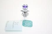 Crystocraft Keepsake Gift Ornament - Tulip Blue/Violet with Swarvoski Crystal Elements