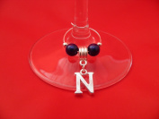 Personalised Letter 'N' Wine Glass Charm by libbysmarketplace