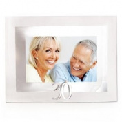 Glass and Mirror Happy 30th Anniversary 6 x 4 Photo Frame