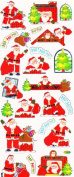 craft peel offs, christmas mixed ,design , ideal for arts and crafts, peel off stickers for crafts / card making etc