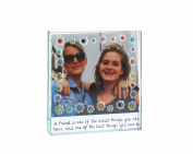 Beautifully hand made, high quality, square, glass, photograph frame from the new 'Emily Flowers Collection' by 'Spaceform'. A timeless gift of friendship (1688).