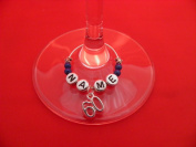 Personalised 60th Birthday Wine Glass Charm with Name by libbysmarketplace