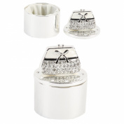 Silverplated Ladies Trinket Box With Crystal Handbag Motif in Sparkling Diamantes - Make a Fantastic Gift