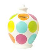 Terramundi Money Pot - Pink, aqua, lime, orange, yellow large spots