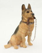 Sitting GERMAN SHEPHERD Dog Ornament - From The Walkies Range Of Collectable Dogs By Leonardo - Ideal Gift For Alsatian Owner