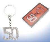Diamante Occasional Keyring - 50th