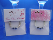 Bride & Groom - Mr & Mrs Wine Glass Charms by libbysmarketplace