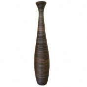 Decorative Tall Floor Vase - Wood - Height 115cm