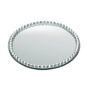 Landon Tyler 10cm Round Candle Plate with Jewels