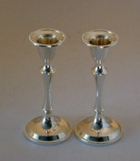 Silver plated Candlesticks for Friday night, shabbath