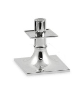 ED3980 Ascot candlestick - Silver-plated - 3.9 inch (10 cm) high