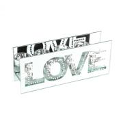 Hestia Glass Mirror Finish Four T-Lite Holder Rectangle Shape - Love