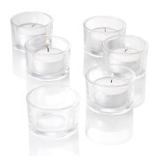 Set of 72 Tealight Candle Holder Clear Glass