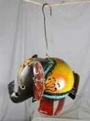 NEW STUNNING HANGING DECORATIVE METAL ELEPHANT TEALIGHT LANTERN / LAMP