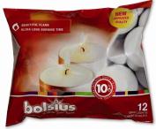 Bolsius Outdoor/Indoor Maxilight Tealight 10 Hour 16x38mm (Bag of 12) - White