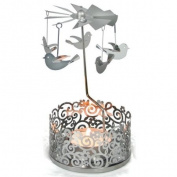 Garden Filigree Carousels 'Dove' Design - . Ornate Christmas / All Year Tealight Holder That Rotates