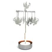 Dove Christmas Tea Light Candle Carousel - Silver