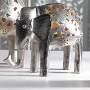 Nickel handmade indian elephant tealight holder