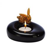 "Bunny de luxe ""Leopard"" Bunny Porcelain Tealight Candle Holder"