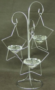 Christmas Collection Silver Stars Tealight Holder