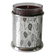 Great Gifts UK- Leaf Pewter Candle Votive - H:90mm Dia:75mm