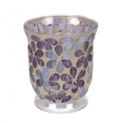 Landon Tyler Mosaic Flower Hurricane, 12 cm, Purple