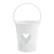 Salco 13 x 15 cm Heart Tealight Holder, White