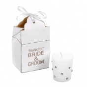 Salco Bride and Groom Favour Box with Jewelled Votive