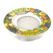 Yair Emanuel Jerusalem Design Glass Tealight Holder