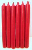Candles - Set of 6 Red Bistro Style Dinner Candles