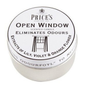 Prices Patent Candles Open Window Tin