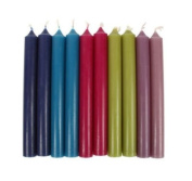 100 x Dinner Bistro Candles Non Drip Table Stick Tapered Taper Candls BULK TRADEColour:Dark Blue