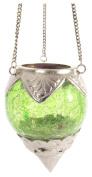Ian Snow Green Crackle Glass Lantern