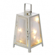 Landon Tyler 22 cm Lantern with Star Lights, White