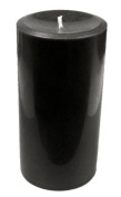 Large Black Round Pillar Candle - Black Candle - Solid Black Colour Throughout The Candle - Up to 140 Hours Burn Time