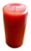 Large Orange Round Pillar Candle - Orange Candle - Solid Orange Colour Throughout The Candle - Up to 140 Hours Burn Time