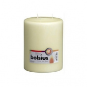 Bolsius Mammoth 3 Wick Pillar Church Candle, 20cm x 15cm