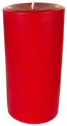 Large Red Round Pillar Candle - Red Candle - Solid Red Colour Throughout The Candle - Up to 140 Hours Burn Time