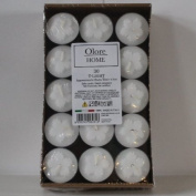 Olore Home White Tealights in a Pack of 30 (4 Hours Burn Time) - Tealights