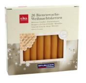 """BRUBAKER by Eika Christmas Tree candles 10% Natural Beeswax """"Made in Germany"""", 20pcs. pack, 10cm x 1,25cm"""