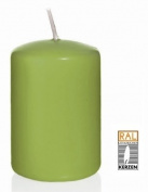 green Pillar candles, 60/120 mm, 16 candles