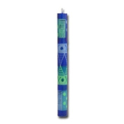 """Kapula dinner candle """"Blue and green"""", 23 cm"""
