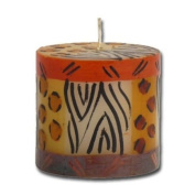 "Kapula pillar candle ""Animal Print"", 7 x 7 cm"