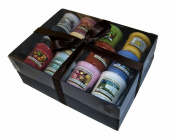 Yankee Candle Luxury 12 Sampler Pack - Gift Wrapped in Black Box, black tissue & Black Satin Ribbon