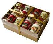 Yankee Candle Christmas 12 Sampler Pack - Gift Wrapped in Gold Box, Gold Tissue & Gold Satin Ribbon