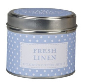 The Country Candle Company Polka Dot Scented Candle In Tin - Fresh Linen