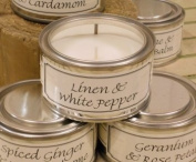 Pintail Candles Pintail Candle Filled Tin - Linen and White Pepper