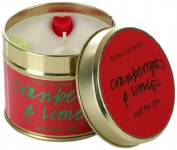Bomb Cosmetics Scented Candle Tin, Cranberry and Lime
