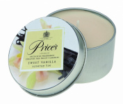 Prices Patent Candles Sweet Vanilla Scented Tin