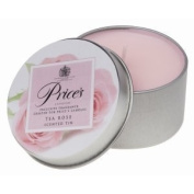 Prices Patent Candles Tea Rose Scented Tin